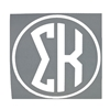 Sigma Kappa Round Decal