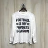 Comfort Colors Football Is My Favorite LS Tee