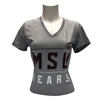 Under Armour Ladies MSU Bears Short Sleeve V-Neck