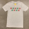 Canvas Oat Fa La La Christmas Short Sleeve
