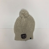 Ladies Cream Beanie with Small Bear Head