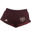 Adidas Ladies Bear Head Maroon Shorts