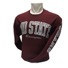 Champion MOSTATE Maroon Long Sleeve Tee