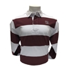Bear Head Charles River Maroon & White Rugby Long Sleeve Polo