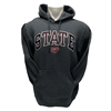 Russell State Bear Head Charcoal Hoodie