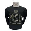 Champion Bear Head MSU Camo and Black Long Sleeve Tee