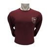 Champion Bear Head Maroon Long Sleeve Tee