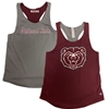 Colosseum Ladies Reversible Missouri State and Bear Head Maroon/Gray Tank