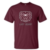 Gildan Bear Head Lady Bears Maroon Short Sleeve Tee