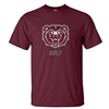 Gildan Bear Head Golf Maroon Short Sleeve Tee