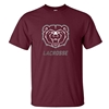 Gildan Bear Head Lacrosse Maroon Short Sleeve Tee