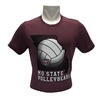 Bella Canvas Shape of Missouri MoState VolleyBears Maroon Short Sleeve Tee
