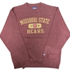 Blue 84 Missouri State Bears Maroon Crew Neck