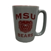 MSU Bear Head Bears Gray Mug