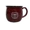 Bear Head Spotted Maroon/White Mug