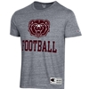 Champion Bear Head Football Charcoal Short Sleeve Tee