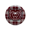 Bear Head Plaid Button