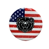 Bear Head Flag Button