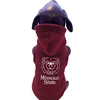 All Star Dog Bear Head Missouri State Fleece Maroon Dog Hoodie
