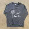 NL Just Breathe Charcoal Crew Neck