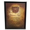 Bear Head Missouri State Fight School Canvas
