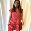 Tiered Ruffled Button Down Dress