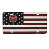 Bear Head Flag License Plate Cover