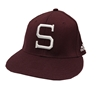 Adidas S Maroon Stretch Fit Hat