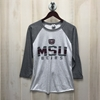 MSU Bears Gray 3/4 Sleeve Tee