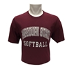 Russell Missouri State Softball Maroon Short Sleeve Tee