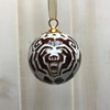 Glass Handcrafted 24k gold plated Bear Head Ornament