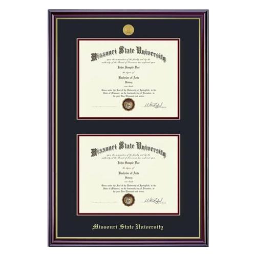 Missouri State Bookstore - Dual Diploma Frame