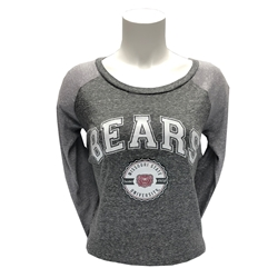 Ladies Bears Missouri State University Oxford 3/4 Sleeve Tee