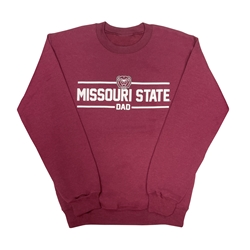 Missouri State Dad Maroon Crew Neck Sweatshirt