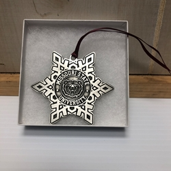 Holiday Ornament Missouri State BH University in Snowflake