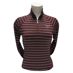 Cutter & Buck Ladies Bear Head Maroon Pull-Over