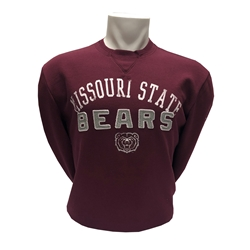 Colosseum Missouri State Bears Maroon Crew Neck