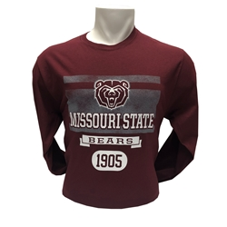 Champion Bear Head Missouri State Maroon Long Sleeve Tee