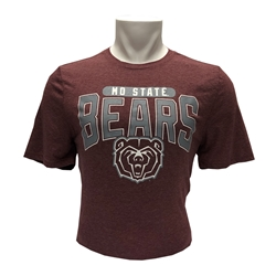 Champion MOSTATE Bears Bear Head Maroon Short Sleeve Tee