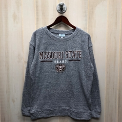 Boxercraft Ladies Missouri State Denim Crew Neck