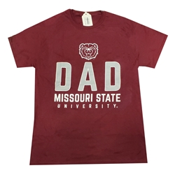 Gildan Bear Head Dad Gray Short Sleeve Tee