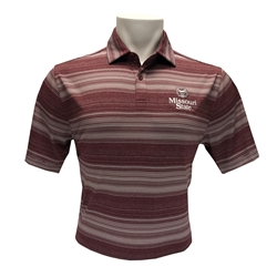 Columbia Men's Bear Head Maroon Short Sleeve Polo