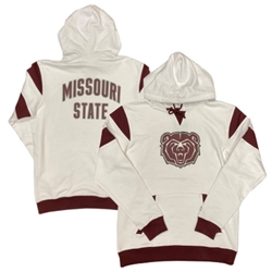 Champion Bear Head Missouri State on Back White Hoodie