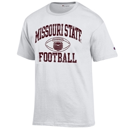 Champion Missouri State Football White Short Sleeve Tee