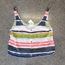 MA Knit Multi-color Stripe Tank