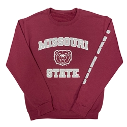 Missouri State Bear Head State Lady Bears Maroon Crew Neck