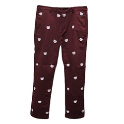 Repeating Bear Head Chino Pants