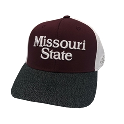 Adidas Missouri State Maroon with Gray Bill Stretch Fit Hat